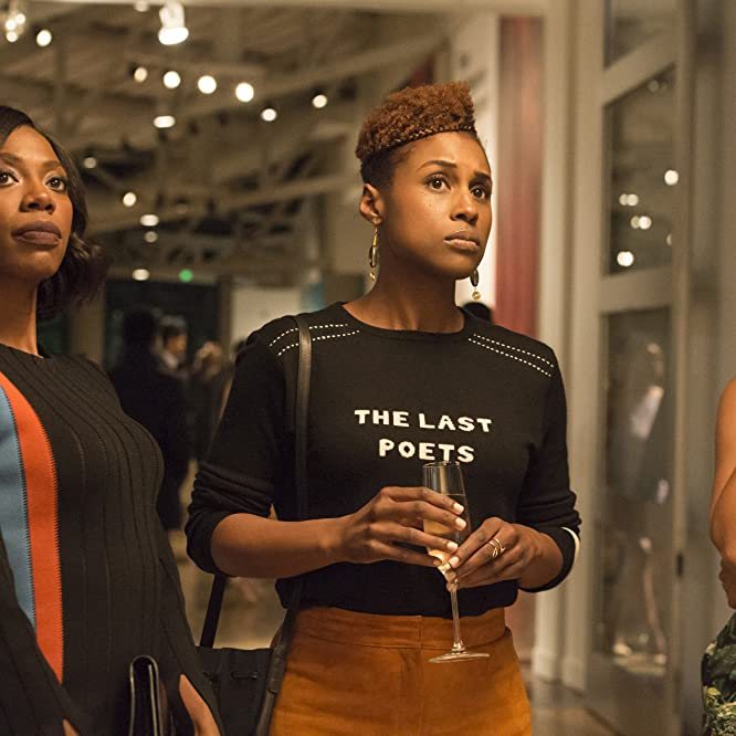 Amanda Seales, Yvonne Orji, and Issa Rae in Insecure (2016)