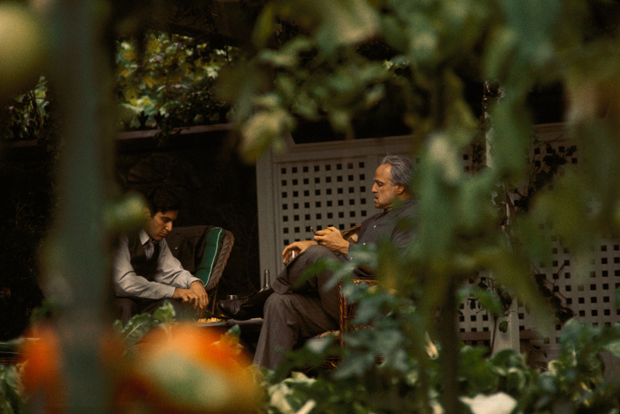 Marlon Brando and Al Pacino in The Godfather (1972)
