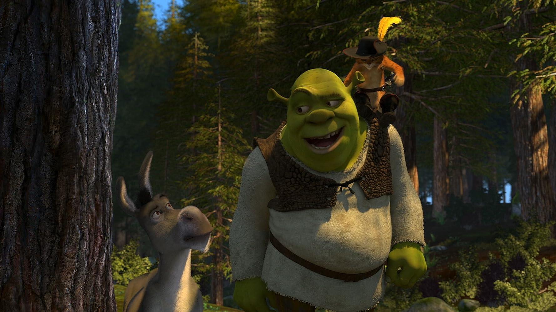 Antonio Banderas, Mike Myers, and Eddie Murphy in Shrek 2 (2004)