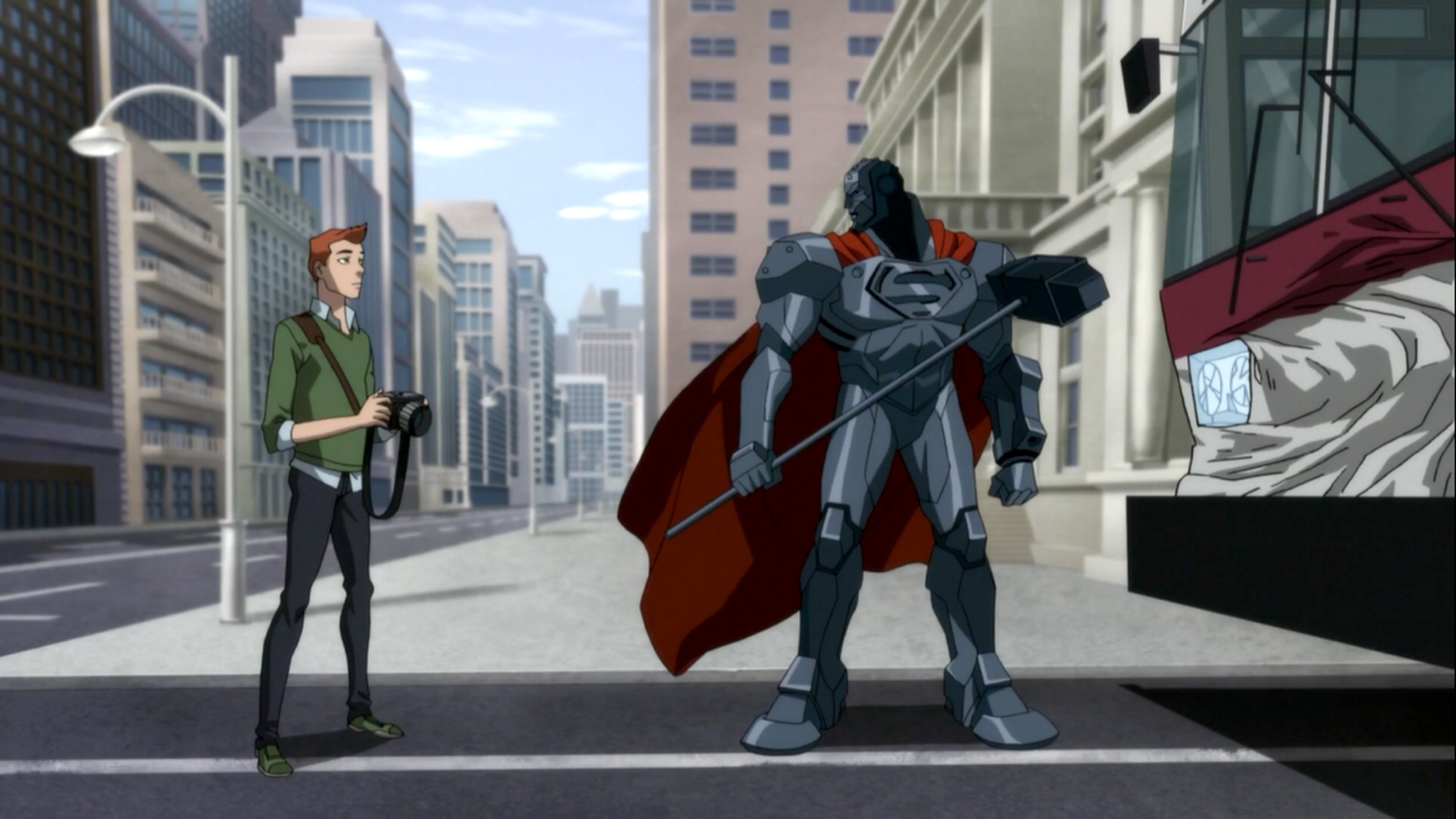 Cress Williams and Max Mittelman in The Death and Return of Superman (2019)