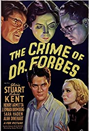 The Crime of Dr. Forbes Poster