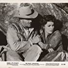 Maureen O'Hara and Brian Keith in The Deadly Companions (1961)