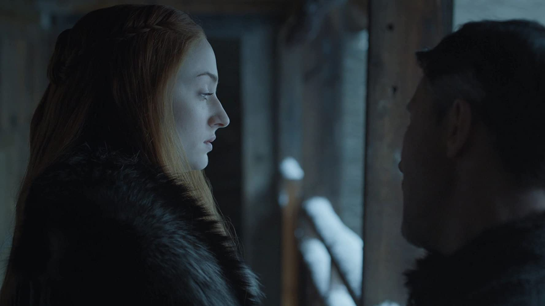 Aidan Gillen and Sophie Turner in Game of Thrones (2011)