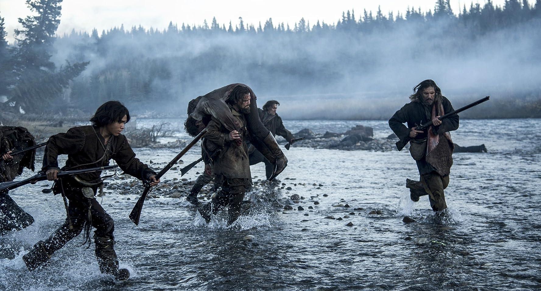 Leonardo DiCaprio and Forrest Goodluck in The Revenant (2015)