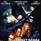 Jim Carrey, Tommy Lee Jones, Nicole Kidman, Val Kilmer, and Chris O'Donnell in Batman Forever (1995)