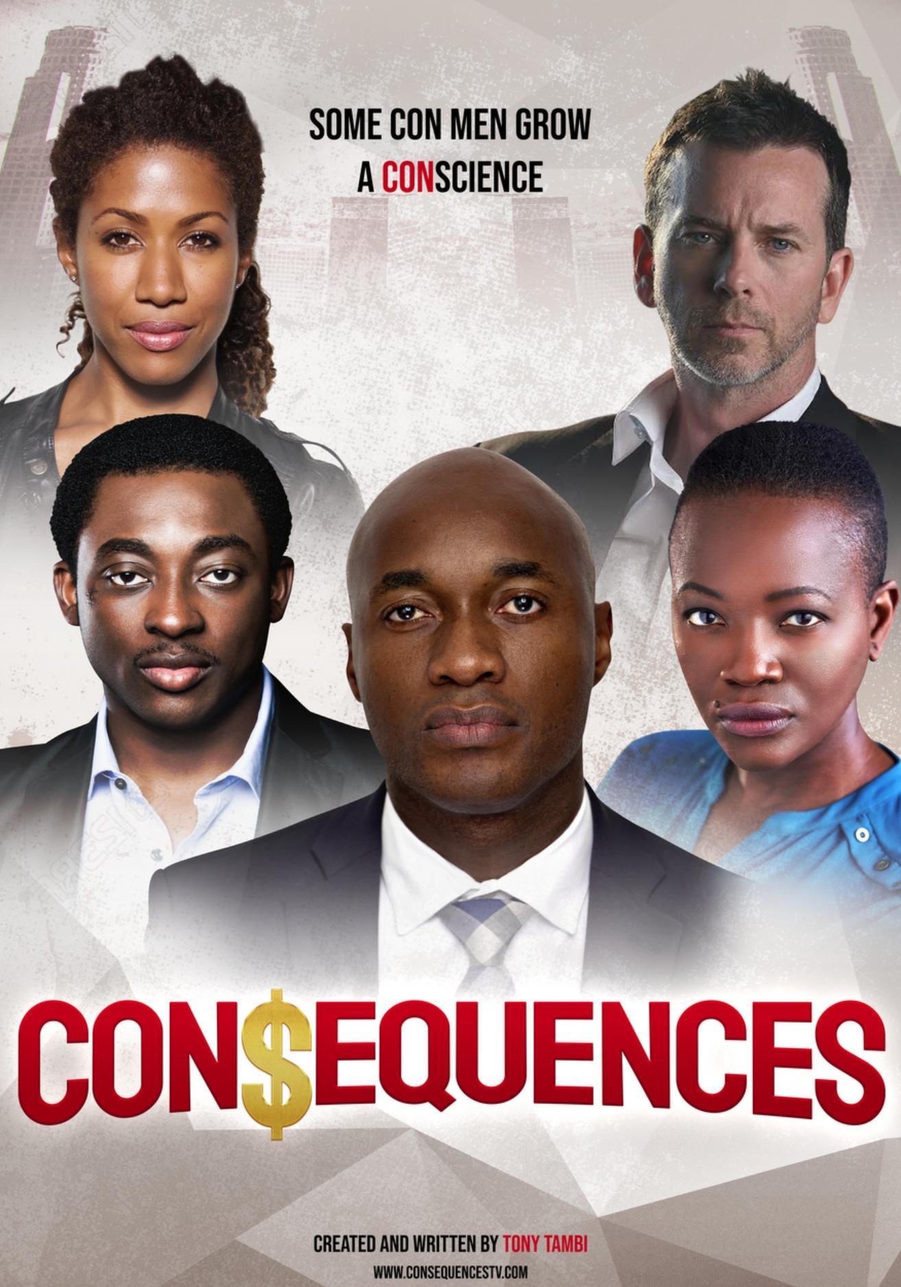 Eboni Adams, John Tague, Bambadjan Bamba, Tony Tambi, and Constance Ejuma in Consequences (2017)