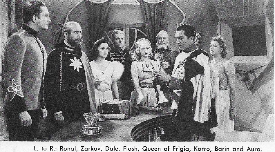 Buster Crabbe, Donald Curtis, Shirley Deane, Luli Deste, Roland Drew, Carol Hughes, Sigurd Nilssen, Lee Powell, and Frank Shannon in Flash Gordon Conquers the Universe (1940)