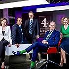 Krishnan Guru-Murthy, Jon Snow, Matt Frei, Cathy Newman, and Jackie Long in Channel 4 News (1982)