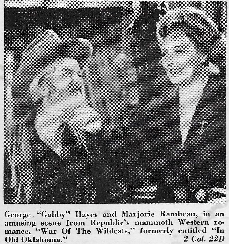 George 'Gabby' Hayes and Marjorie Rambeau in In Old Oklahoma (1943)