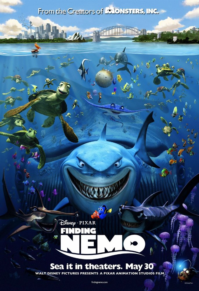 Finding Nemo (2003) 720p BDRip  [Tamil – Telugu – Hindi – Eng] Movie