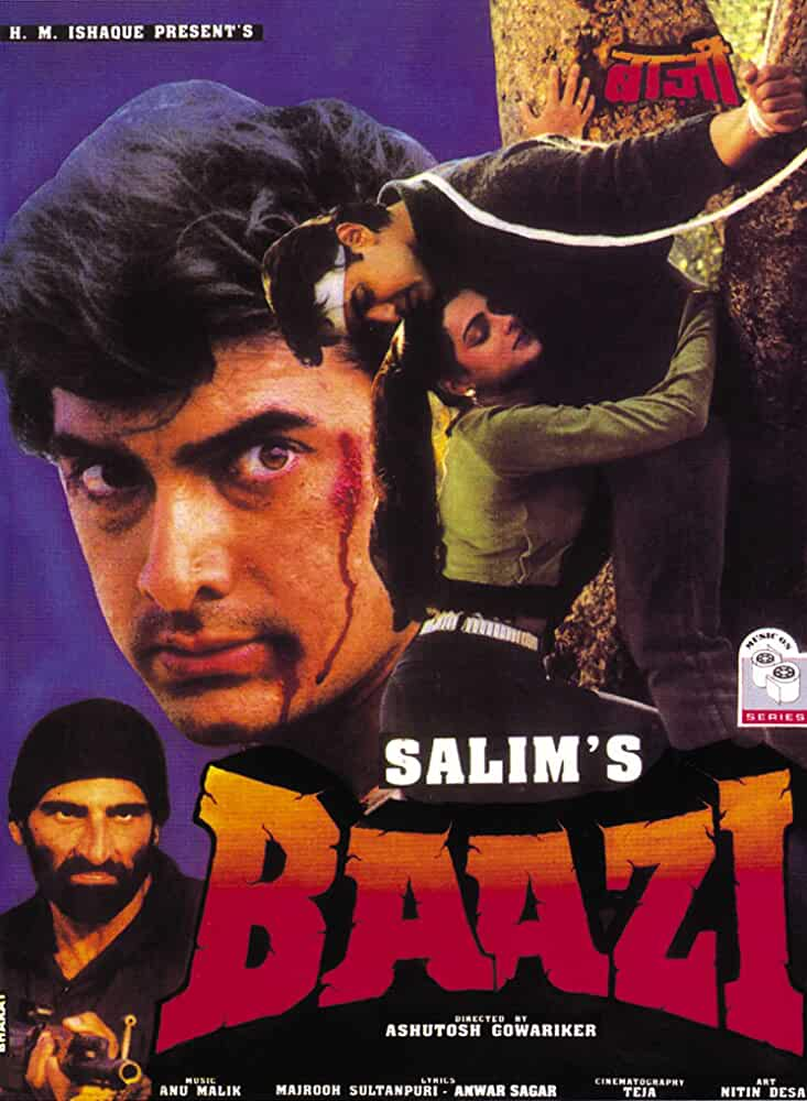 Baazi (1995) Hindi 720p HEVC HDRip x265 AAC ESubs [850MB] Full Bollywood Movie