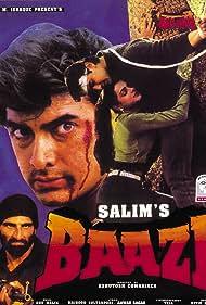 Aamir Khan, Mamta Kulkarni, and Mukesh Rishi in Baazi (1995)