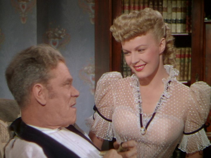 James Barton and June Haver in The Daughter of Rosie O'Grady (1950)