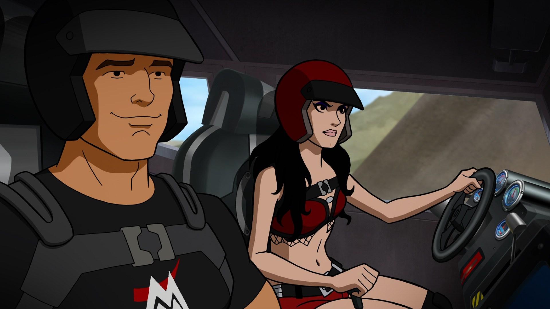 Mike 'The Miz' Mizanin and Saraya-Jade Bevis in Scooby-Doo! and WWE: Curse of the Speed Demon (2016)