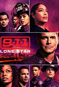 Rob Lowe, Gina Torres, Jim Parrack, Sierra Aylina McClain, Julian Works, Ronen Rubinstein, Brian Michael Smith, Natacha Karam, and Rafael L. Silva in 9-1-1: Lone Star (2020)