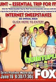 Rebecca Creskoff, Johnny Lewis, Andy Richter, Sarah Wright, Ryan Pinkston, Jake McDorman, and April Matson in Quintuplets (2004)