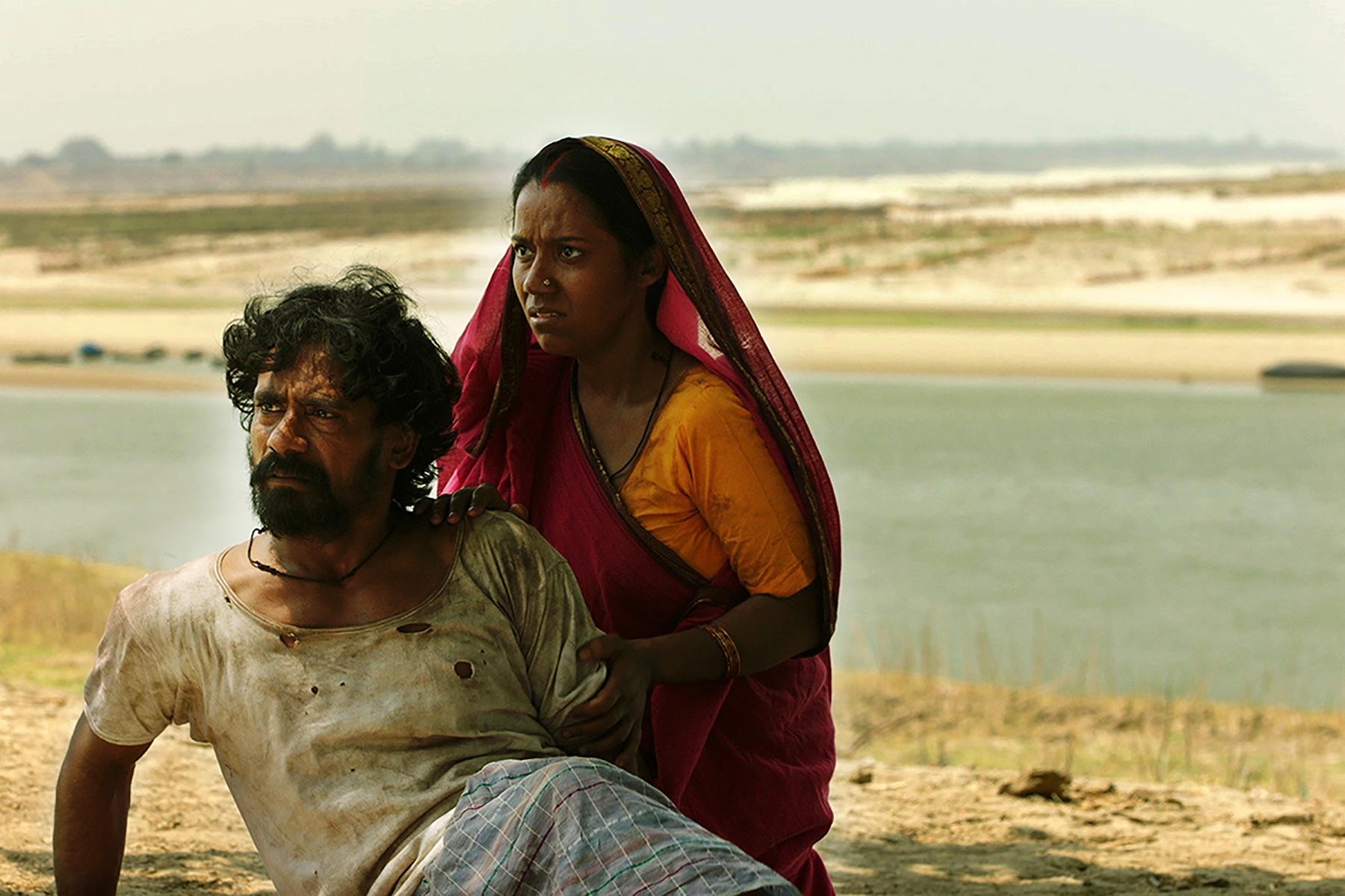 Vikram Singh and Sanchita Goswami in Jhalki (2019)