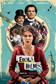 Helena Bonham Carter, Henry Cavill, Susan Wokoma, Adeel Akhtar, Sam Claflin, Millie Bobby Brown, and Louis Partridge in Enola Holmes (2020)