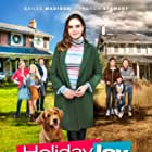 Sandy Jobin-Bevans, Jennifer Robertson, French Stewart, Bailee Madison, Luke Bilyk, Natalie Ganzhorn, and Ethan Pugiotto in Holiday Joy (2016)