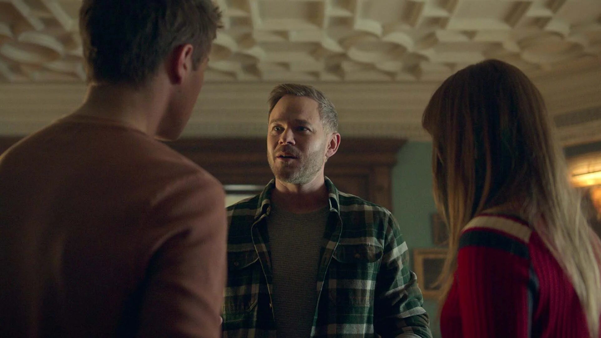 Aaron Ashmore, Connor Jessup, and Emilia Jones in Forget Me Not (2021)