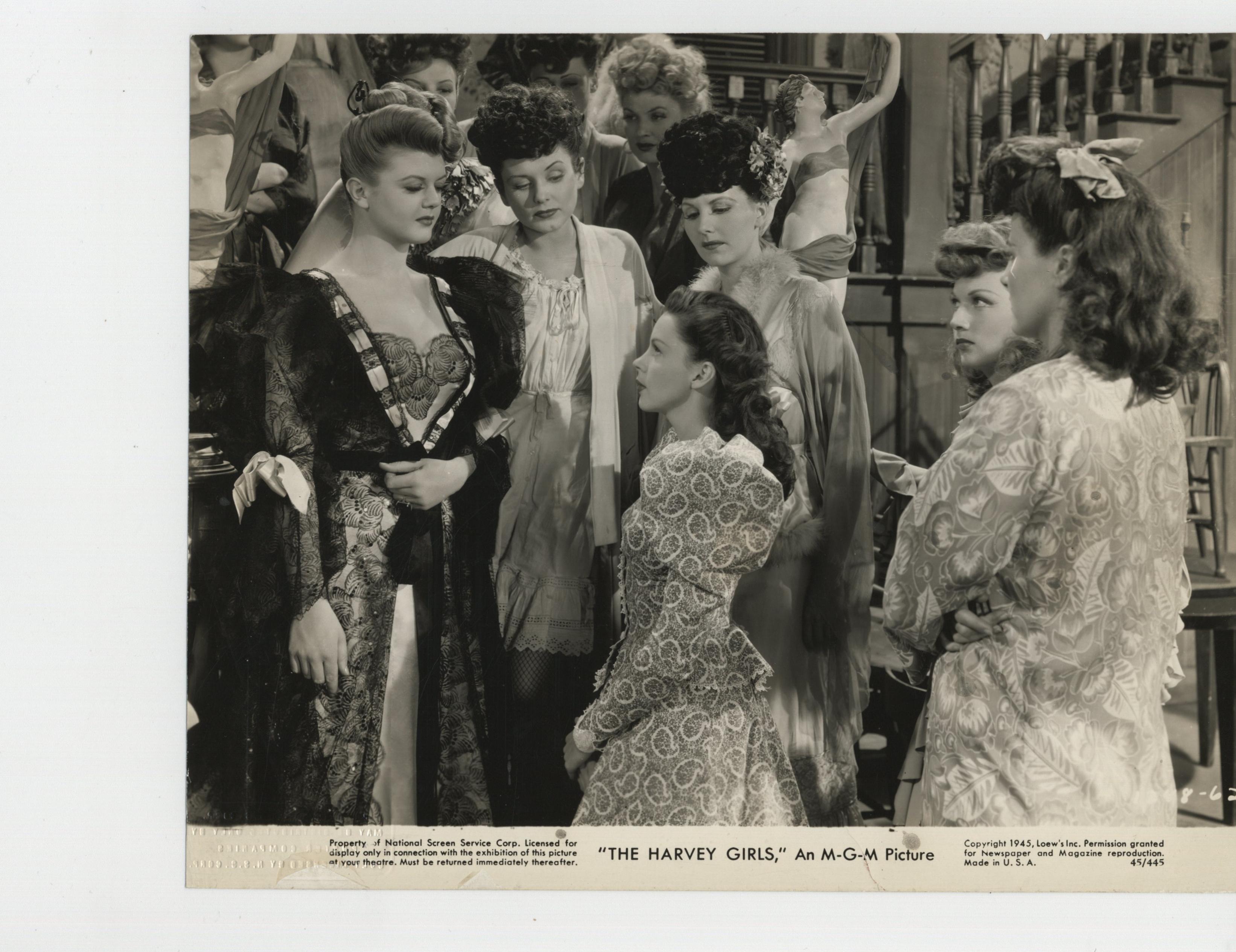 Judy Garland, Angela Lansbury, Jane Allen, Jean Ashton, Eleanor Bayley, Joan Carey, Lucille Casey, Virginia Davis, Gloria Hope, Daphne Moore, and Ruth Clark in The Harvey Girls (1946)