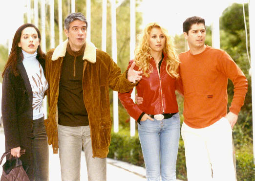 Filippos Sofianos, Gogo Mastrokosta, Alexandros Bourdoumis, and Afroditi Al-Saleh in Dream Hotel (2002)