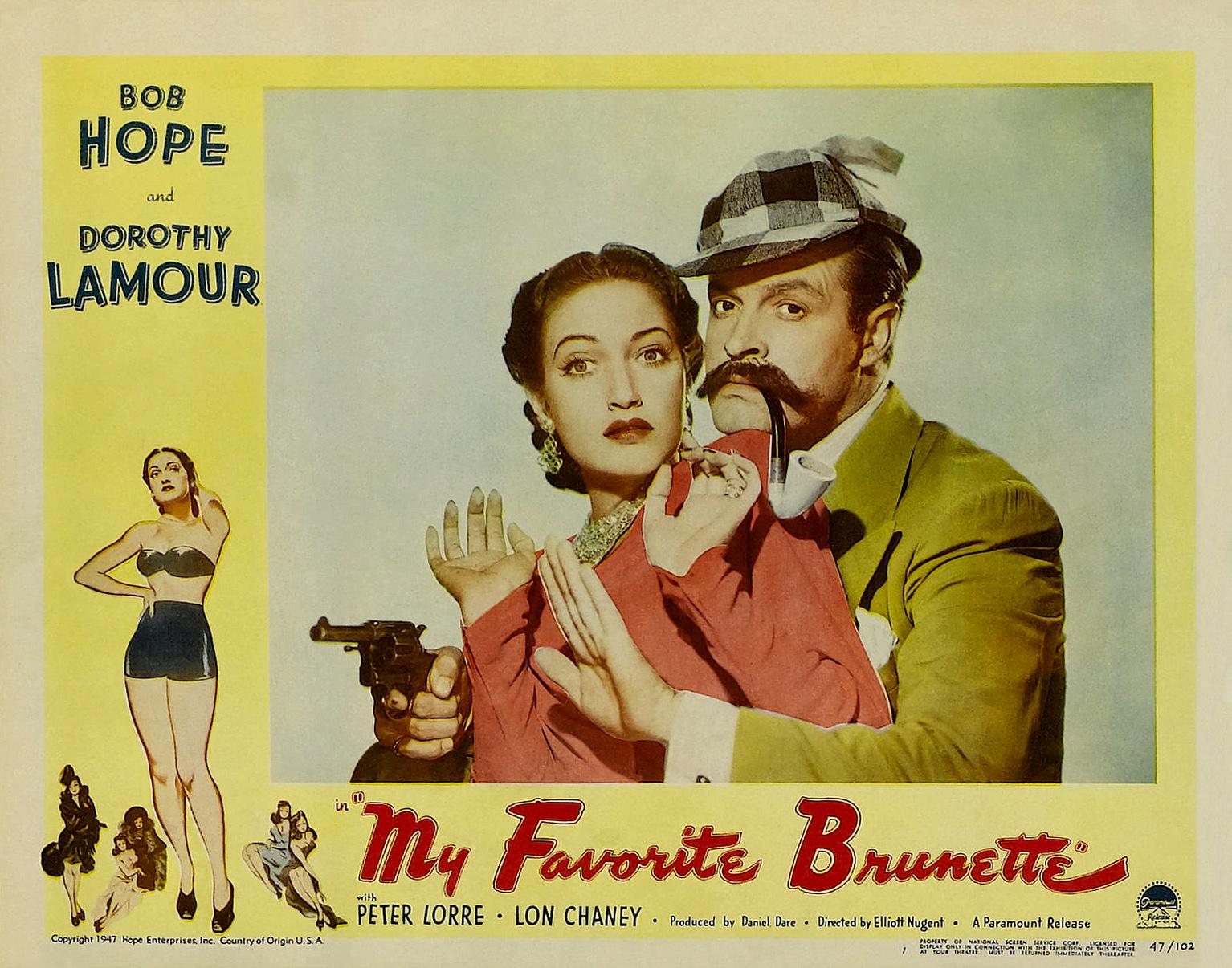 Image result for my favorite brunette 1947 poster
