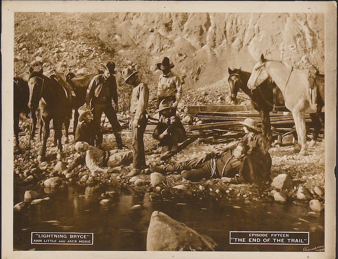 Yakima Canutt, George Champion, Ben Corbett, Jack Hoxie, Ann Little, Slim Lucas, Walter Patterson, Jill Woodward, and Scout in Lightning Bryce (1919)