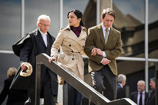 Archie Panjabi, Reece Shearsmith, and Peter Robbie in The Widower (2013)