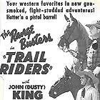 John 'Dusty' King, David Sharpe, and Max Terhune in Trail Riders (1942)