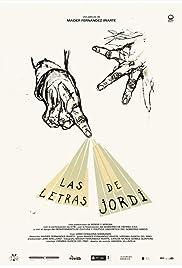 Las letras de Jordi Poster