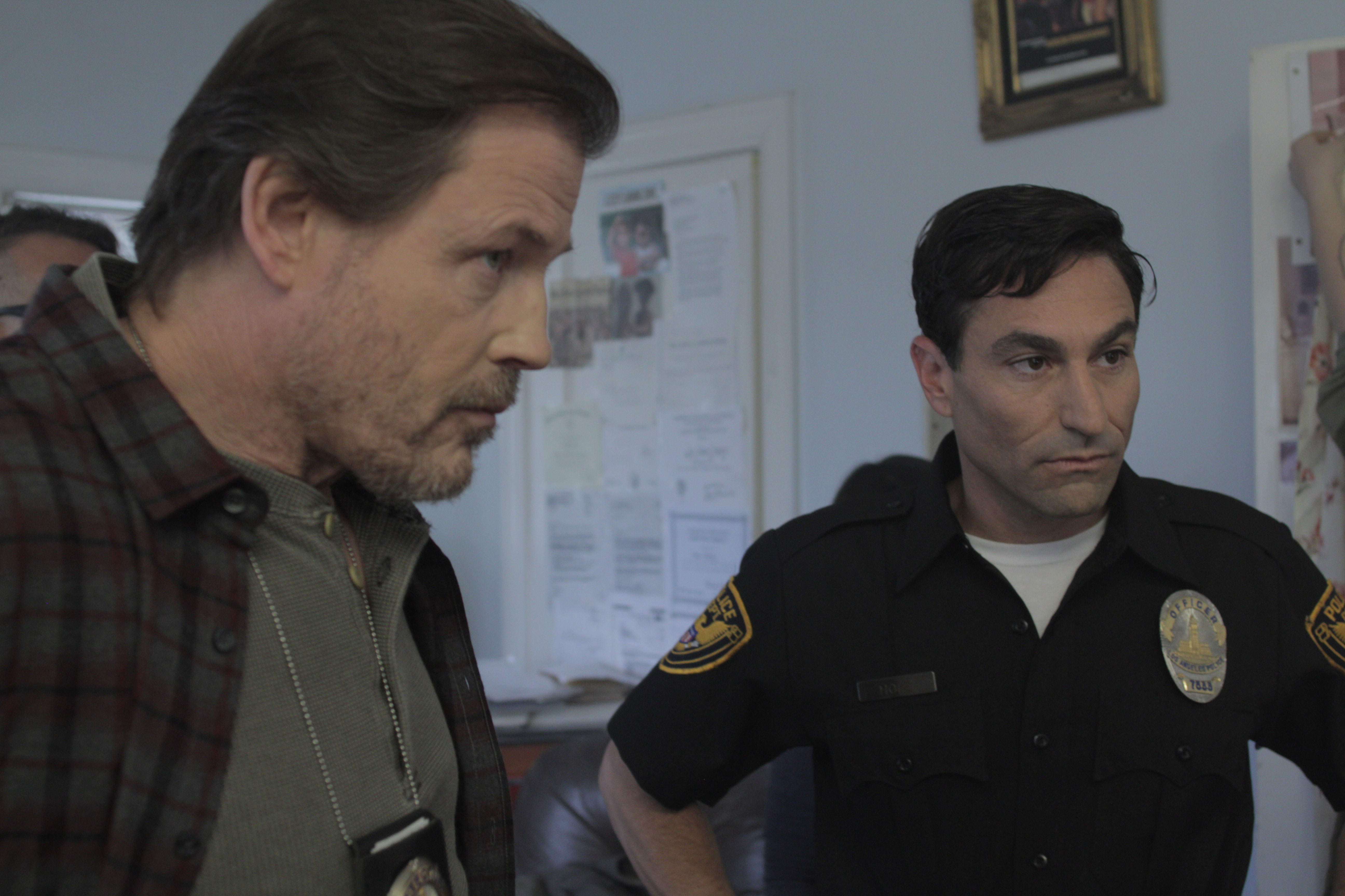 """With Michael Pare on """"Reborn"""" set."""