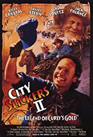 Billy Crystal, Jon Lovitz, Jack Palance, and Daniel Stern in City Slickers II: The Legend of Curly's Gold (1994)