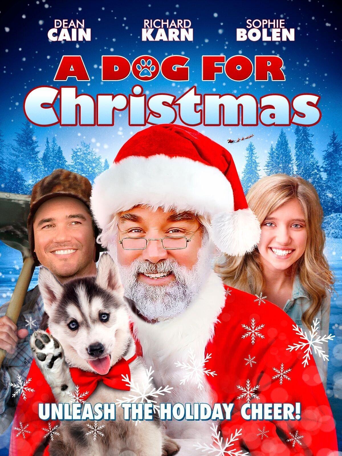 Dean Cain, Richard Karn, and Sophie Bolen in A Dog for Christmas (2015)