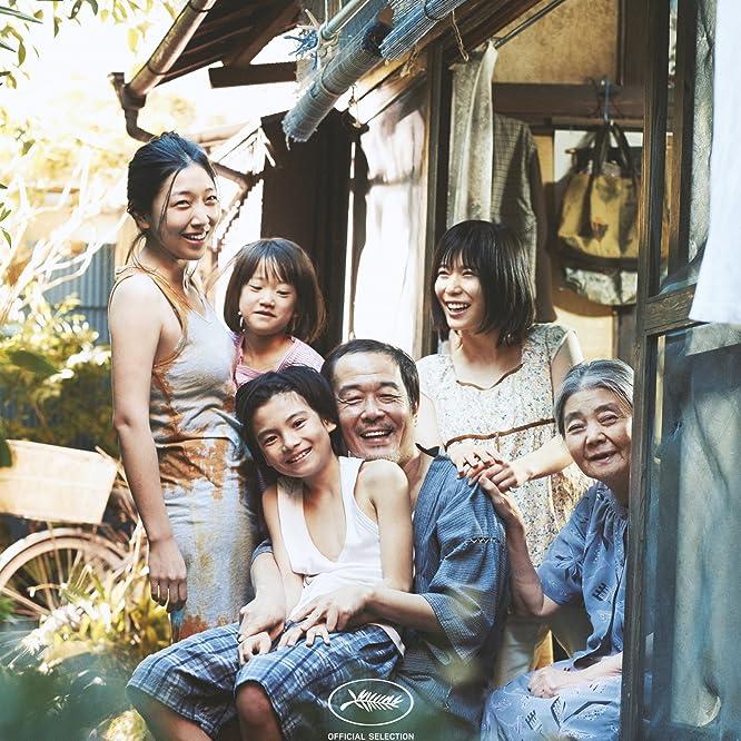 Kirin Kiki, Lily Franky, Sakura Andô, Mayu Matsuoka, Miyu Sasaki, Jyo Kairi, and Mehdi Taleghani in Shoplifters (2018)