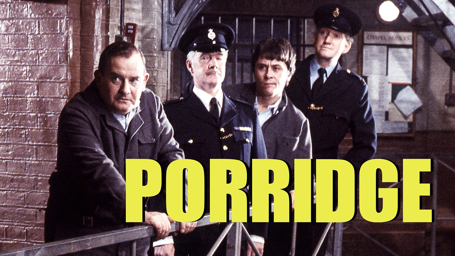 Ronnie Barker, Richard Beckinsale, Fulton Mackay, and Brian Wilde in Porridge (1974)