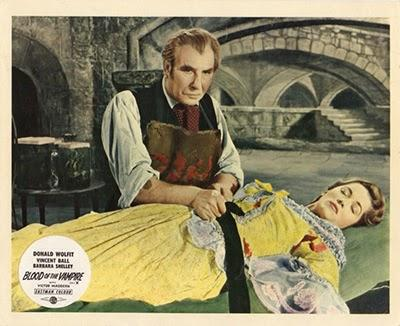 Barbara Shelley and Donald Wolfit in Blood of the Vampire (1958)