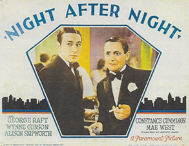 Roscoe Karns and George Raft in Night After Night (1932)