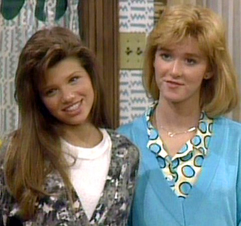 Ari Meyers and Allison Smith in Kate & Allie (1984)