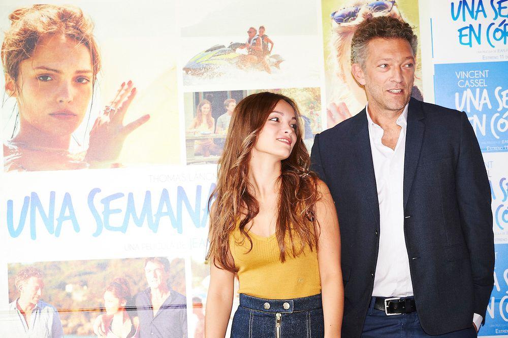 Vincent Cassel and Lola Le Lann at an event for Un moment d'égarement (2015)