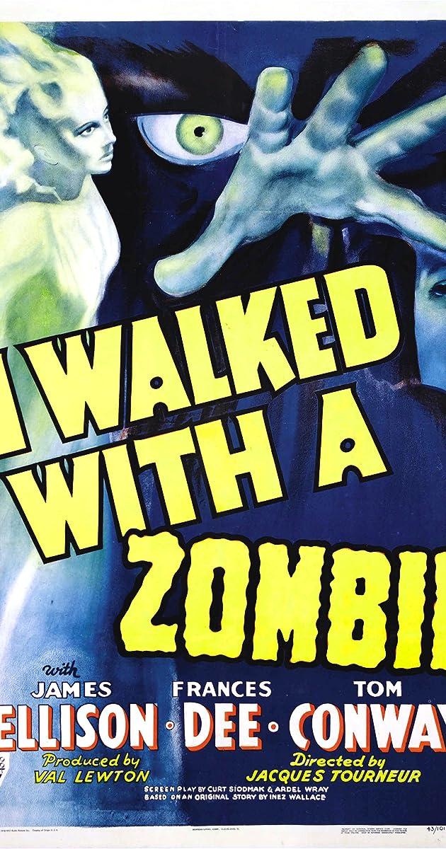 I Walked with a Zombie 1943 Boris Karloff Horror movie poster print