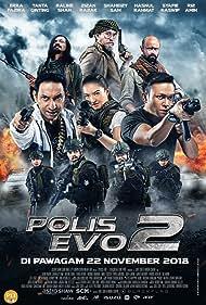 Hasnul Rahmat, Sofi Jikan, Mike Lucock, Shaheizy Sam, Zizan Razak, Raline Shah, Hairul Azreen, and Firdaus Rahman in Polis Evo 2 (2018)