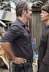 Sabrina Gennarino, Steven Ogg, and Pollyanna McIntosh in The Walking Dead (2010)