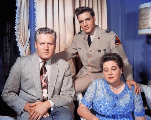 Elvis Presley, Gladys Presley, and Vernon Presley