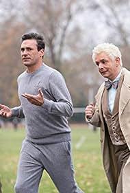 Jon Hamm and Michael Sheen in Good Omens (2019)