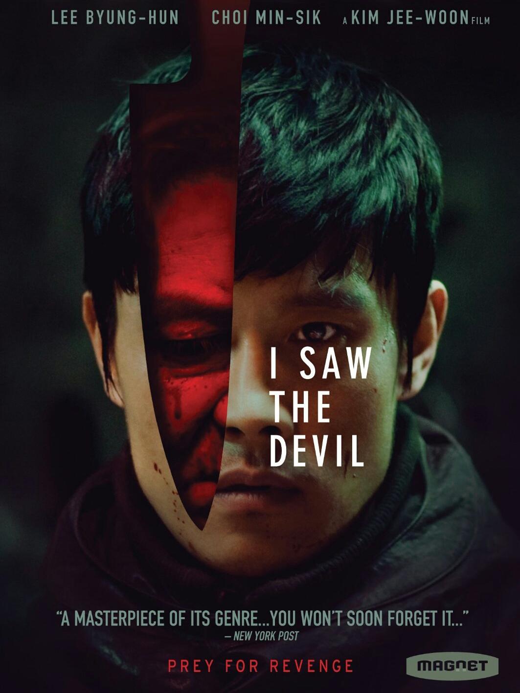 Poster phim kinh dị giật gân Hàn Quốc I Saw The Devil. (Ảnh: Internet)