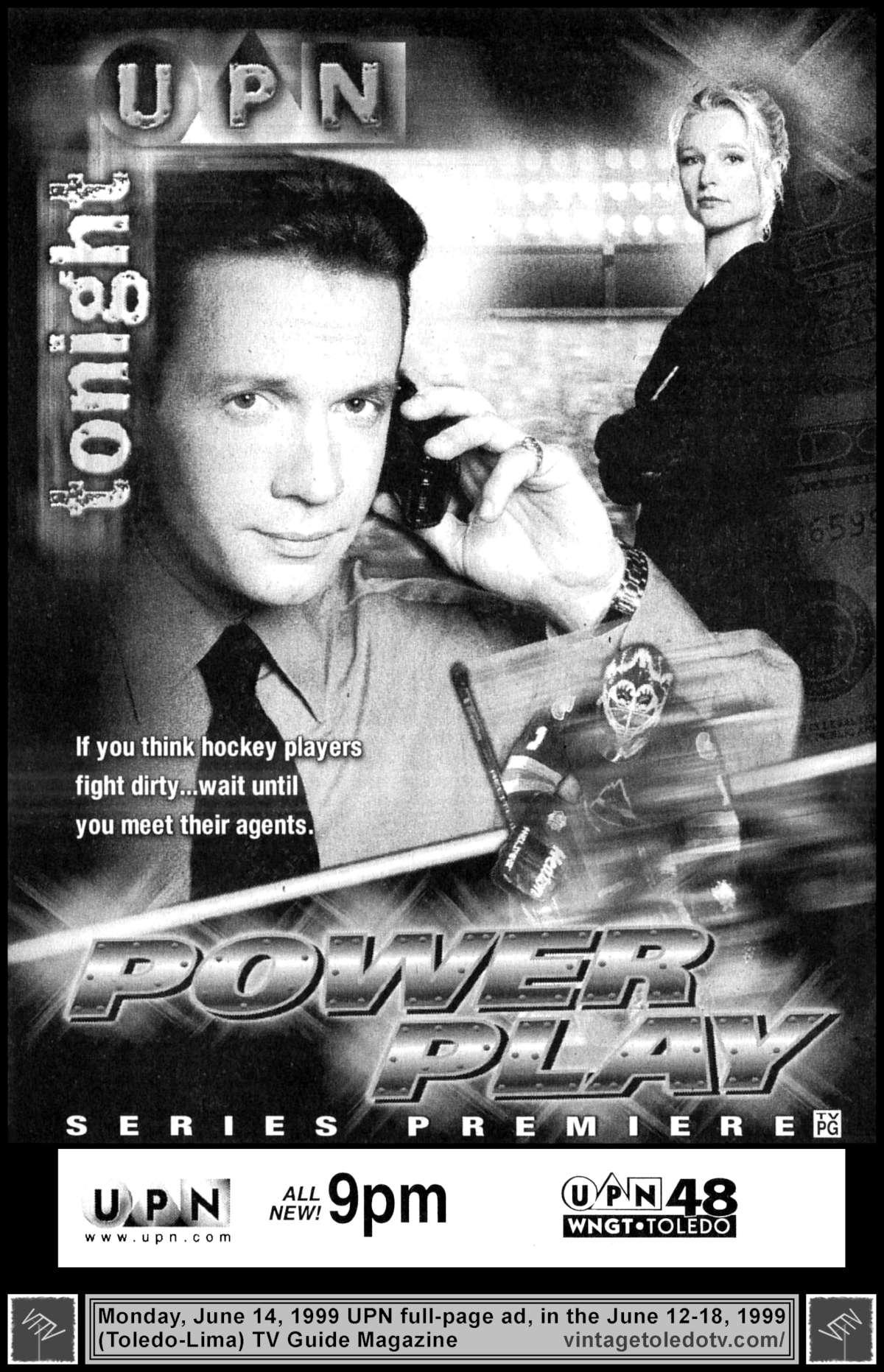 Kari Matchett and Michael Riley in Power Play (1998)