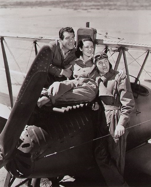 Ray Milland, Louise Campbell, and Fred MacMurray in Men with Wings (1938)