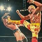 Hulk Hogan and Paul Levesque in WWF Backlash (2002)