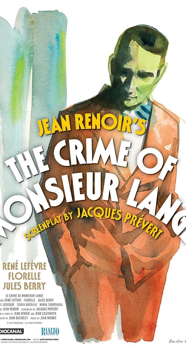 Subtitle of The Crime of Monsieur Lange
